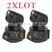 2pcs/lot 15W LED mini moving Head spot effect   dj light