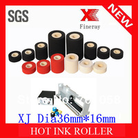 Black Fineray brand XJ type 36mm*16mm Black hot ink roll on plastic food bags date coding and printing