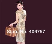 Unique design top quality  excellent hand scraft  banquet evening dress lace fashion design long cheongsam