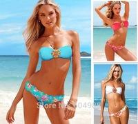 Women Sexy Victoria Floral Bikini for women Diamond Swimwear Push up VS Swimisuit