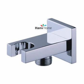 Латунь хром настенный ручной душ кронштейн держатель насадки для душа с подключением ...