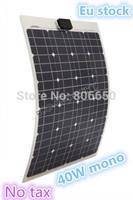 40W mono semi-flexible pv solar panel,40 watt solar panel for boat RV no taxis
