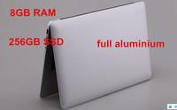 "13.3"" ultrabook notebook computer aluminium laptop PC 8GB RAM 256GB SSD Intel Celeron 1037U dual core"