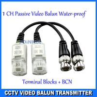 30pairs/lot  Twisted BNC CCTV Video Balun passive Transceivers UTP Balun BNC Cat5 CCTV UTP Video Balun up to 3000ft Range