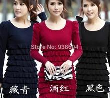 popular swan print dress