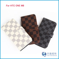 wallet flip leather case for HTC ONE 2 M8 DHL free shipping 300pcs