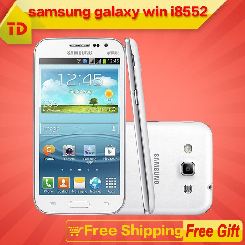 Samsung Galaxy Win I8552 Quad Core 5.0MP Camera 1G RAM Dual Sim GPS GPRS Original Cell phone Refurbished Free Shipping(China (Mainland))
