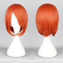 Short Anime Wig 35cm Short Angel Beats-Otonashi Yuzuru Short Orange Cosplay Wig(China (Mainland))