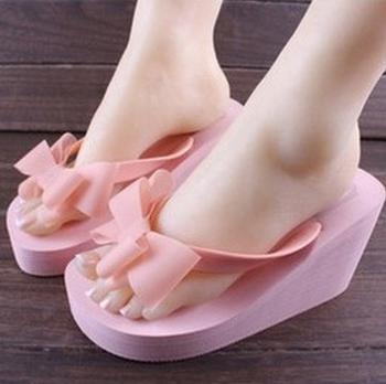2014 Summer Sexy Beautiful Flip Flops Женщины Sandals Bohemian Muffin Slope with ...
