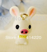 Resin Piggy Pendant for Necklace/Mobilephone Chain Pendant /Mini Resin Ornaments /Bonsai Decoration by 30PCS/LOT
