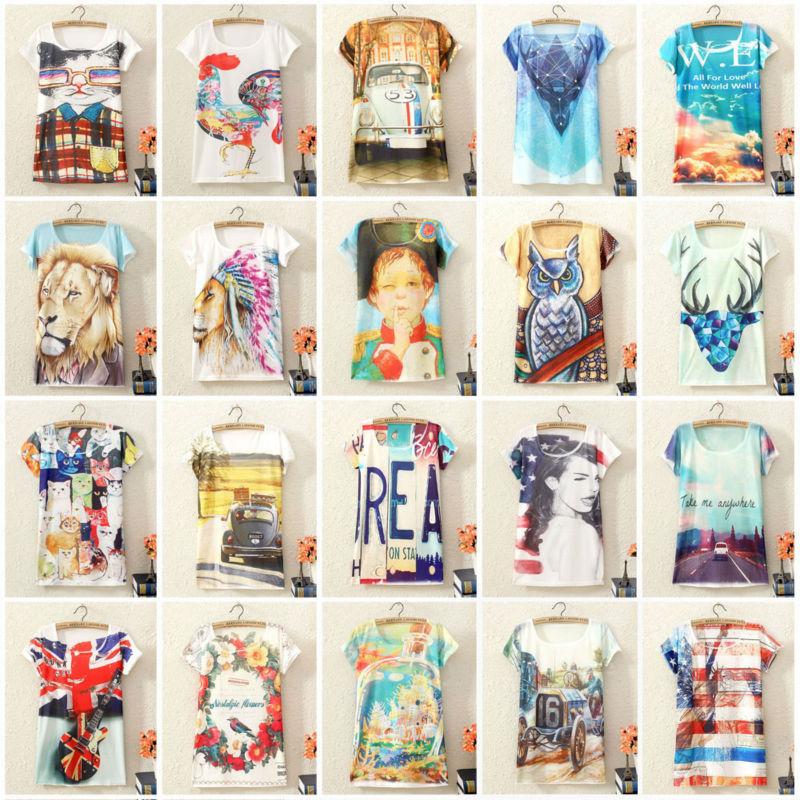 2015 New Fashion Vintage Spring Summer Animal Digital Printing Women's ...