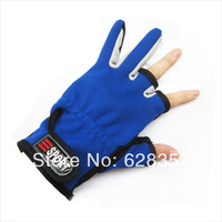 2014 NEW 1 Pair Anti-slip 3 Low Fingers Cut Fishing Gloves Fish Clothing Gear Skidproof For Fly /carp fishing equiment