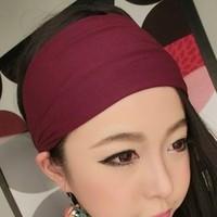 freeshipping wholesale retail fashion cotton fabric wide headband popular fashion hair accessories popular for women 12cm wide