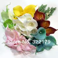 """10pcs Mini 15"""" Latex Calla Lily For Wedding Bouquet Decor 36cm Calla Lilies Multi Color Wedding Brides Bouquet Flowers"""