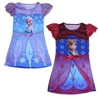 Free Shipping 5pcs/lot Frozen Elsa Anna Snow Adventure Romance Dresses