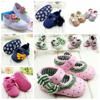 Hot-selling spring summer Polk Dot Baby Girl shoes First Walkers Infant/Newborn sapatos,antislip footwear mary janes R1343