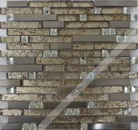 [Colorful Mosaic] Elaminated Black And White Kitchen Mosaic Tile Backsplash QH040