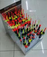 Hot 100pcs/box High Quality Free Shipping Plastic Bobber Mixed Size Light Stick Line Stopper Fishing Tackle Pesca Fishing Floats