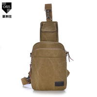 2014 explosion models fashion trend for men and women canvas chest pack generic casual shoulder bag wild men's messenger bags
