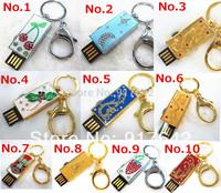 New Metal Genuine Flash Pen Drive Disk Memory Sticks for Gift 2GB 4GB 8GB 16GB 32GB U disk Free Shipping U154
