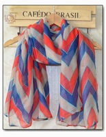 Chevron Design Scarf 2014 Spring Fashion New Arrival Scarf Shawl For Ladies 100% Polyester Bohemia  Aztec Style