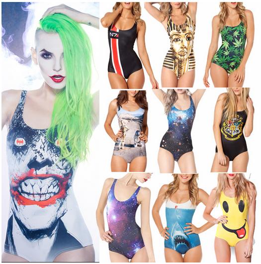 Bikini S Bodysuit I AM THE BATMAN DIFFERENTLY SANE POISON IVYJOKER'S REVENGE SWIMSUIT Digital Printing Swimwear Women One Piec