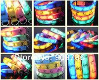 DHL/FEDEX free shipping new arrival fashion cartoon flashing Dog collar LED cute pet collar
