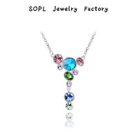 ROXI Jewelry Luxury women pendant necklace genuine Austrian crystals platinum plated hand made fashion jewelry, lovely beautiful