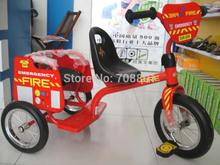 Eurotrike Tandem Trike fogo ou polícias , Moldura inoxidável Twins Triciclo Duplo assento para duas crianças usam(China (Mainland))