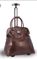 Free Shipping Pull rod box crocodile grain rod package The European and American fashion ladies handbags luggage lady handbags