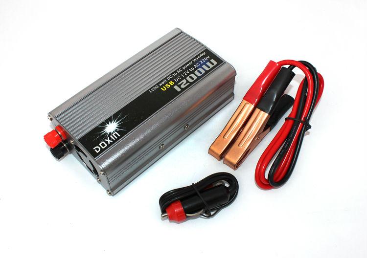 Инвертирующий усилитель мощности DOXIN 12v DC AC 220v AC 1200W USB doxin син 500w автомобиля инвертор 12v 220v с зарядки ибп возможность