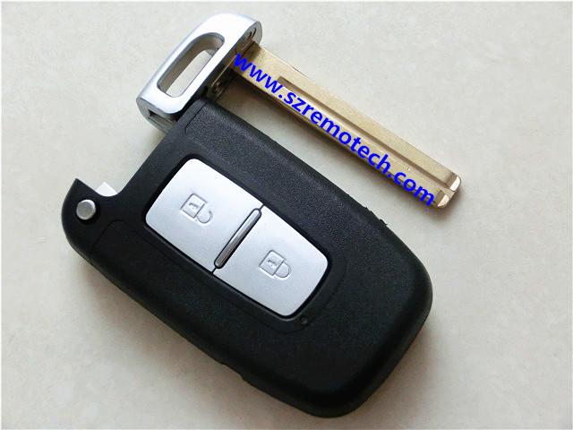 Hyundai Elantra Flip Remote Key Shell 2 Button Blank Shell for Hyundai Smart Card 2 Button(China (Mainland))