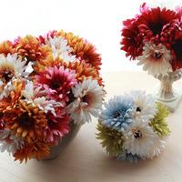 (7 daisy flower heads/piece)Free shipping rustic type Gerbera artificial flower silk flower  daisy decoration flower