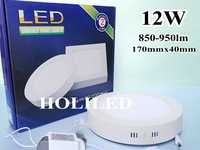 12W Round LED panel light, surface mounting ,850lm-950lm