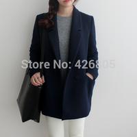 Winter 2014 macrotrichia loose wool coat outerwear cocoon suit women's suit 060