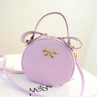 2014 new Summer new arrival  women's handbag bow rivet chain shoulder bag messenger bag mini circle small bag  free shipping