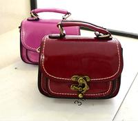 2014 new  women's fashion handbag fashion sewing thread lock solid color women's one shoulder cross-body bag small bag