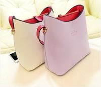 2014 new Fashion vintage fashion macaron color block color block decoration shoulder bag  summer brief fashion women's handbag