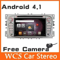 2din Android 4.1 Car DVD Automotivo Player For Ford Focus 2008 2009 2010 W/GPS AM/FM Radio 1GHz CPU BT Audio+Wifi dongle+Camera
