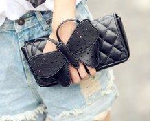 popular black leather clutch