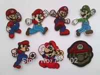Super Mario Luigi Mario game iron on patches Appliques  Clothes  Paste Fabric Paste 12pcs/lot