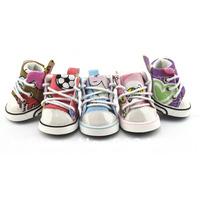 New Hotting Canvas Leisure Sport Dog  Shoes Pet Shoes Pet Accessries Rose Blue Top Quality