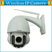 PNP/P2P Megapixel 720P Pan/Tilt/Zoom Wireless Security IP Outdoor Dome Camera HD Wifi IR-CUT 40M Night Vision DIY Installation