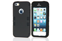 Heavy Duty Shock Proof Hybrid Soft Silicone Hard Combo Case Cover For iphone 5 5S