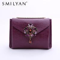 New arrival 2014 women PU leather handbags fashion noble imitation gem rhinestone women shoulder bags women messenger bags