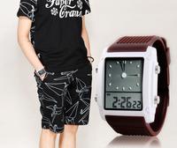 Free shipping fashion dress watches luxury brand SKMEI , led watch colorful sports electronic watch