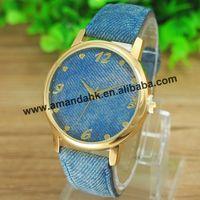 100pcs/lot, Europe design jeans bracelet Watches man woman casual sport  wristwatch summer fashion unisex dress cowboy watches