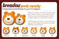 10pcs/lots 6 patterns of  Breadou goody Murphy  bear  bread hand rest PU bread decoration soft squishy 6