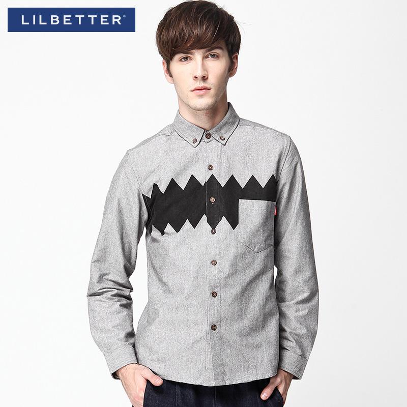 vestuário Oxford pano de seda camisa fino casual camisa masculina dos homens de manga comprida vestido ocasional Lilbetter camisa masculina(China (Mainland))