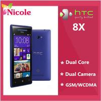 Original Unlocked HTC 8X C620e Windows Phone 8 Dual-core 8MP Camera 16G Internal Refurbished Cell phone  Free shipping